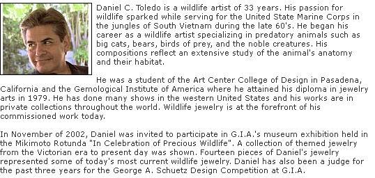 Daniel Toledo   Wildlife Jewelry Art Pendants, earrings ...