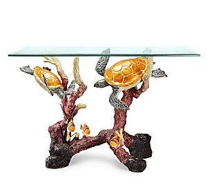 Bronze Sea Turtles Console Table
