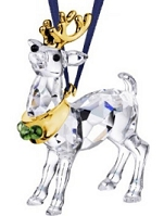 Swarovski Reindeer Gold Ornament -Retired