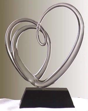 Frabel Studio Entwined Heart Glass Sculpture