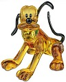 Disney Pluto in Swarovski Colorful Crystal