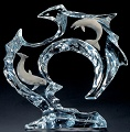 FLOW - Dolphins Sculpture in Lucite