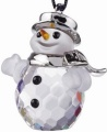 Ornament - Swarovski Classic Snowman Rhodium - Retired
