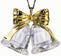 Ornament - Swarovski Classic Bells - Gold plated-Retired