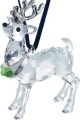 Ornament - Reindeer in Rhodium by Swarovski - Retired