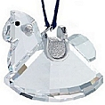 Ornament - Swarovski Rocking Horse in Rhodium -Retired