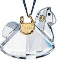 Ornament - Swarovski Rocking Horse in Gold-Retired