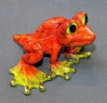 Orange Dezerae Frog Large Bronze Sculpture by Barry Stein