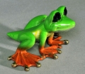 Multicolor-Lime Dezerae Bronze Frog, small-by Barry Stein