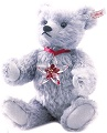 Steiff Bear with Swarovski Crystal Poinsettia Ornament