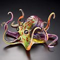 Multi-Color Soul Glass Octopus Sculpture by Soul Glass
