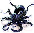 Purple Spotted Soul Glass Octopus Sculpture (please select size)