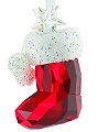 Santa Stocking Swarovski Christmas Ornament - Retired