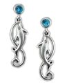 Artistica Endless Love, Twirling Dolphins Pierced Earrings