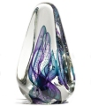 Infinity Art Glass Transparent Tetra Blue/Teal