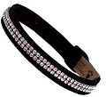 "Dog Collar Black Ultrasuede with Swarovski Crystals 1/2"" wide"