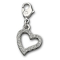 Crystal Heart Charm by Swarovski - Reversible