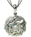 Artistica Bimini Road Dolphins large Bubble Ball Pendant