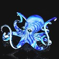 Blue Turquoise Soul Glass Octopus Sculpture (please select size)