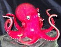 Pacific Red  Octopus Sculpture w/ Suction Cups (please select size)