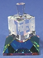 Optical Crystal Dreidel with Base