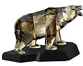 Swarovski Crystal Soulmates Bear on Black India Granite, Signed by Swarovski Designer - SALE