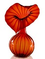 "Frabel Studio Glass Heart ""Red Heart Vase"""