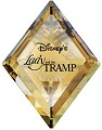 Swarovski Crystal Disney Lady and the Tramp Title Plaque