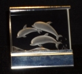 Steinbach Optical Crystal Triple Dolphins