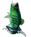 Large Mouth Leaping Bass Fish Sculpture by Michael Hopko
