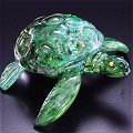 Sea Turtle Glass Sculpture by Michael Hopko - Soul Glass