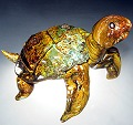 Land Tortoise Glass Sculpture by Michael Hopko