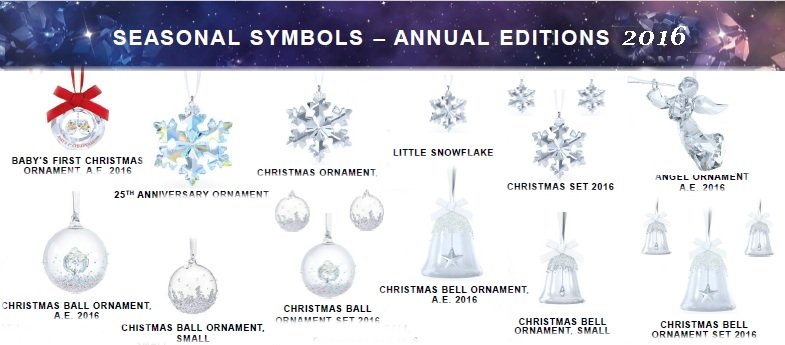 swarovski merry christmas crystal ornaments