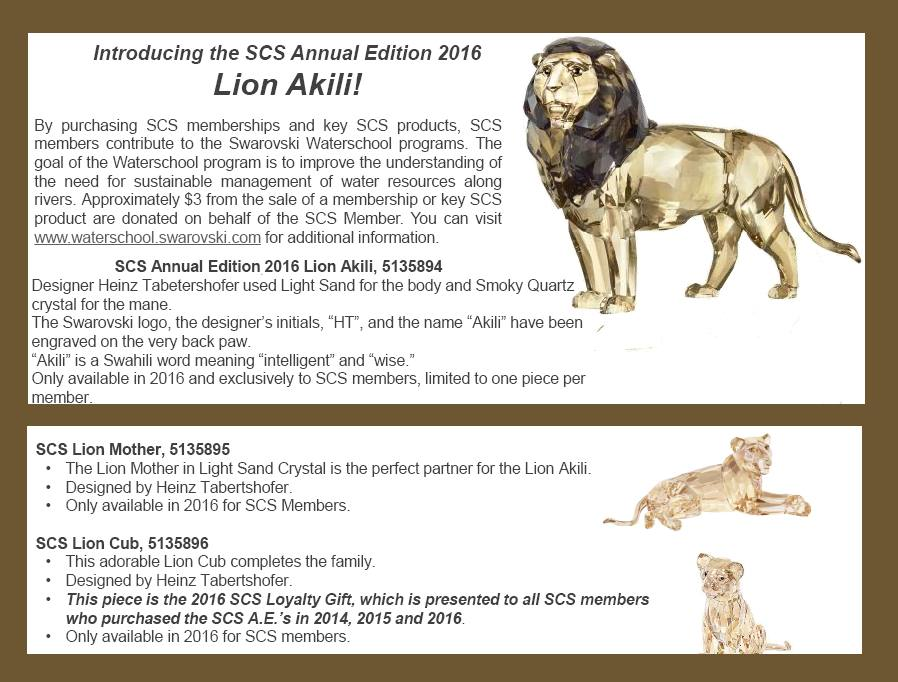 792846a13 2016 Akili Lion SCS ANNUAL SCULPTURE COLLECTION - Crystal-Fox Gallery