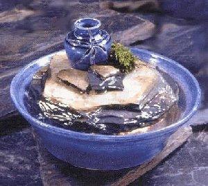 Ceramic/Slate Tabletop Fountain   Blue
