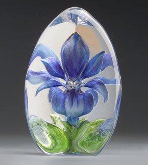 Mats jonasson blue lily glass flower paperweight mj 33880 mats mats jonasson blue lily glass flower paperweight mj 33880 mightylinksfo