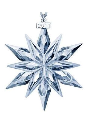 2011 Swarovski Annual Edition Crystal Dated Star Ornament - 2011 Swarovski Annual Edition Crystal Dated Star Ornament (Swarovski