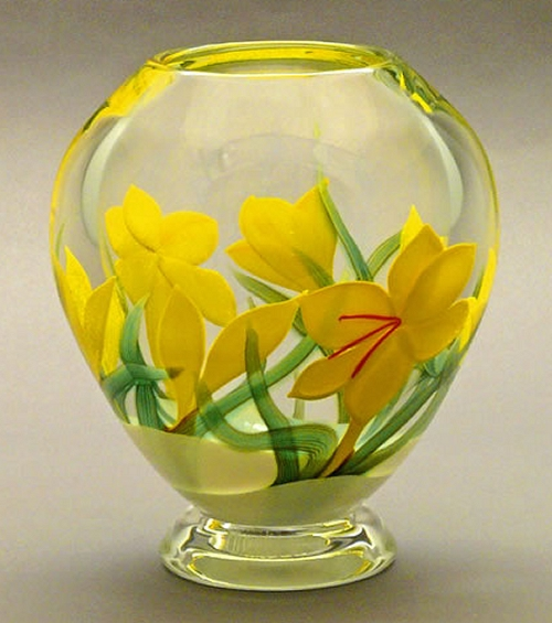 Winter Crocus Glass Flower Vase By Orient And Flume Orient And