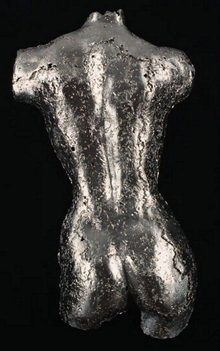 Pewter Torsos by Rock Richardson - Metal Sculpture made in