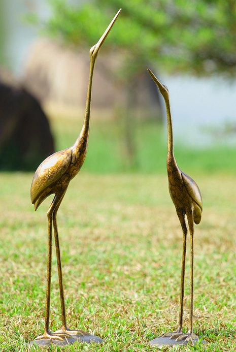 Bird Bronze Brass Sculptures - Crystal-Fox Gallery