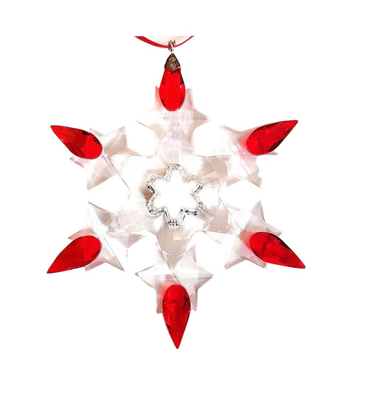 2011 Swarovski Annual Edition Crystal Dated Star Ornament - Ornaments - Retired Dated SW Annual Edition Stars And Snowflakes