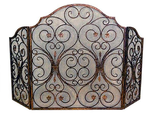 Decorative Fireplace Screen - Decorative Fireplace Screen (San Pacific International) - Crystal