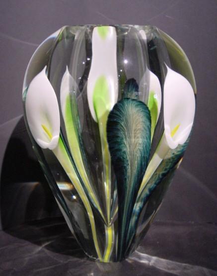 Calla Lily Vase White Lotton Studios Crystal Fox Gallery