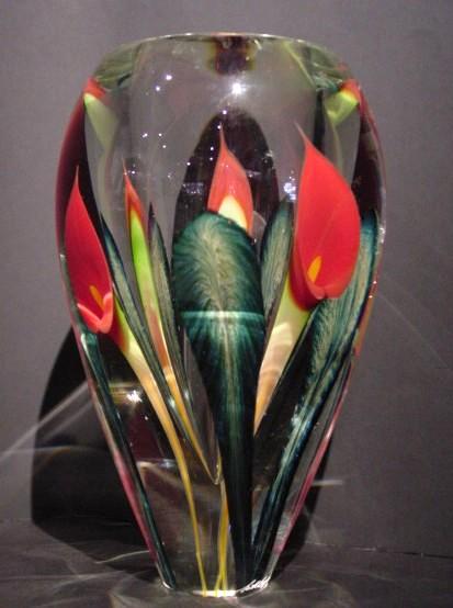 Calla Lily Vase Red Lotton Studios Crystal Fox Gallery