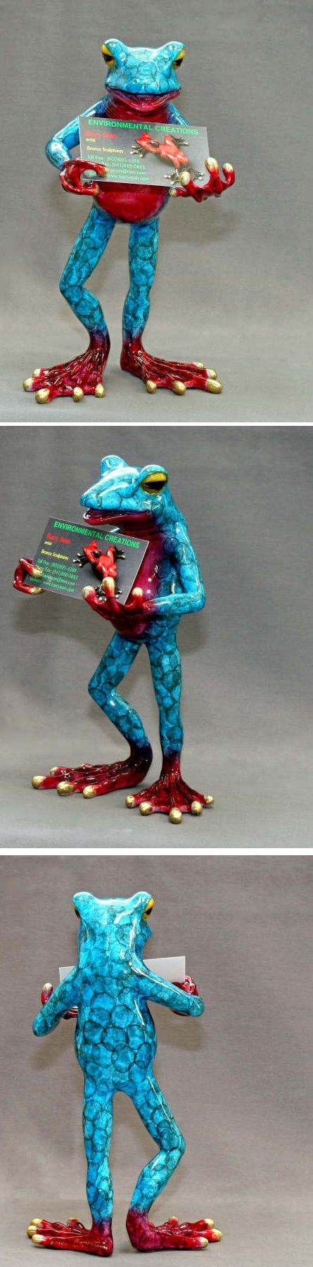 Turquoise Bronze Frog Business Card Holder (Barry Stein) - Crystal ...