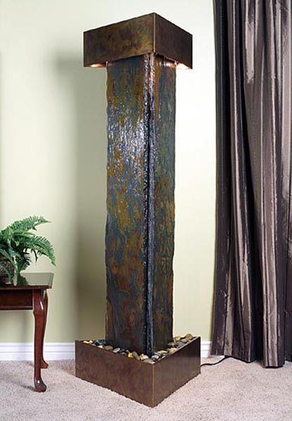 Artesian Springs Copper and Indian Multi-Color Slate Floor Fountain ...
