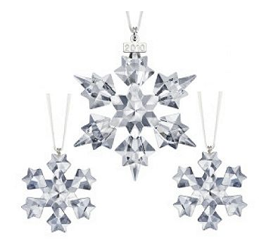 4678e4302 2010 Swarovski AE and Little Snowflake Ornaments Set (Swarovski ...