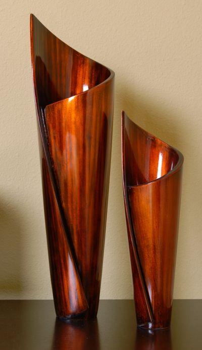 Paper Vases Free Form Wood Sculpture Set Crystal Fox Gallery