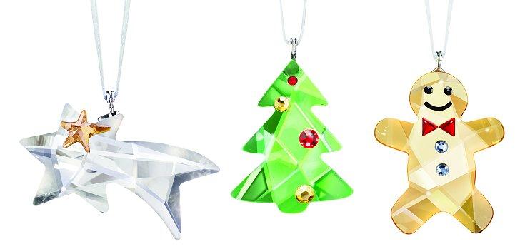 Christmas Ornament Set - Gingerbread Man, Tree, Comet (Swarovski ...
