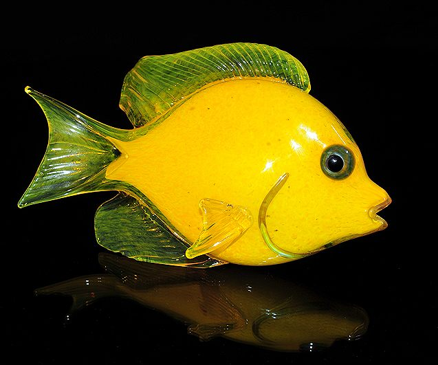 Yellow Tang Tropical Reef Fish Sculpture Wall Sculpture (Soul Glass ...